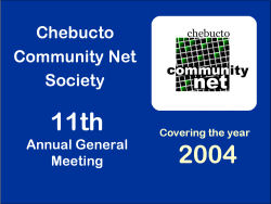[Graphic: Chebucto AGM 2004.]