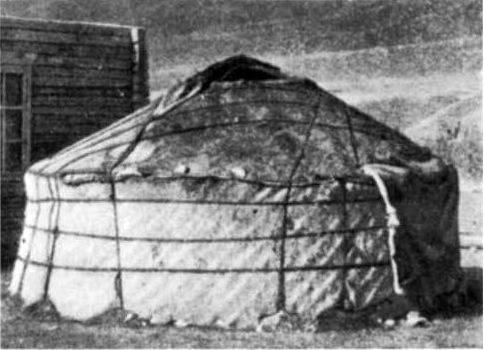 It is likely that the unlatticed cylindrical tents derived fom the latticed ones. & Shifting Boundaries: Central Asian Kibitki