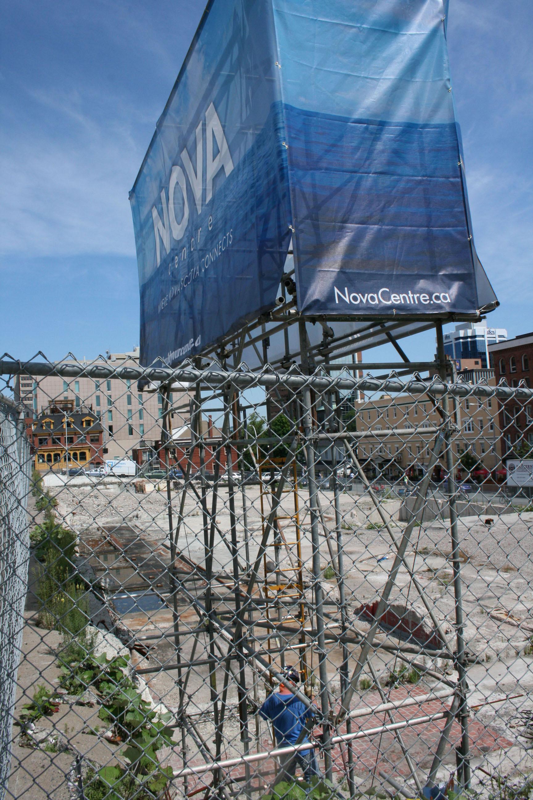 The future site of the Nova Center.