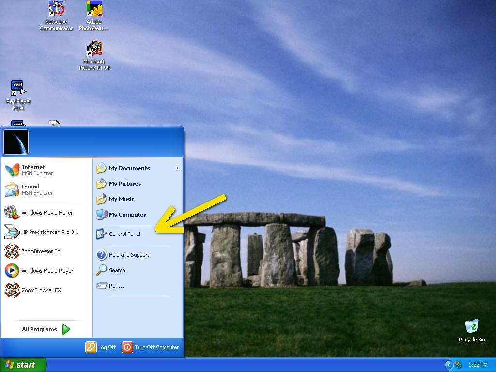 MS Windows XP Bluelit Desktop
