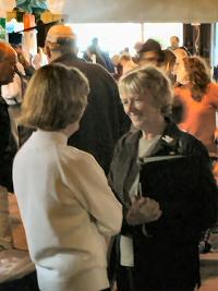 [Photo: N.S. MP Alexa McDonough and Chebucto Chair Marilyn MacDonald talk.]